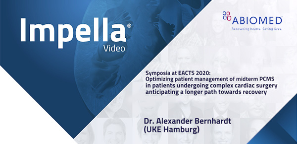 ABIOMED Symposium @ Virtual EACTS: Dr. Alexander Bernhardt (UKE Hamburg): Optimizing patient management thumbnail image