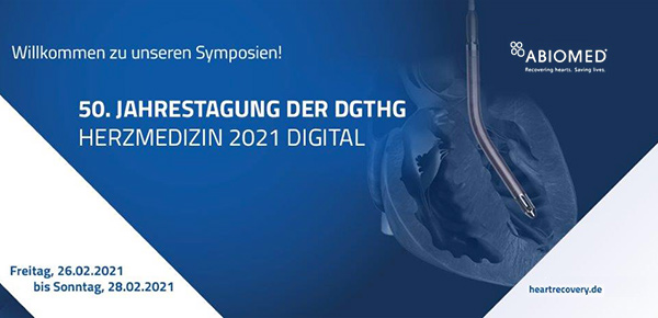 Save-the-Date: ABIOMED Mittagssymposium 27.02.2021 - 50. Jahrestagung der DGTHG  thumbnail image