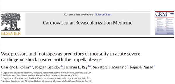 Vasopressors and inotropes as predictors of mortality in acute severe cardiogenic shock treated with the Impella device. thumbnail image