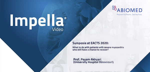 ABIOMED Symposium @ Virtual EACTS: Prof. Payam Akhyari: What to do with patients with severe myocarditis who still have a chance to recover thumbnail image